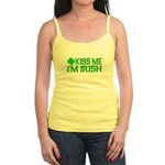 Kiss Me I'm Irish (Light) Jr. Spaghetti Tank