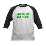 Kiss Me I'm Irish (Light) Kids Baseball Jersey
