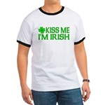 Kiss Me I'm Irish (Light) Ringer T