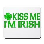 Kiss Me I'm Irish (Light) Mousepad