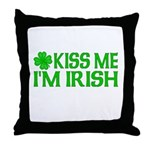 Kiss Me I'm Irish (Light) Throw Pillow