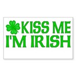 Kiss Me I'm Irish (Light) Rectangle Sticker