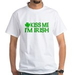 Kiss Me I'm Irish (Light) White T-Shirt