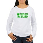 Kiss Me I'm Irish (Light) Women's Long Sleeve T-Sh