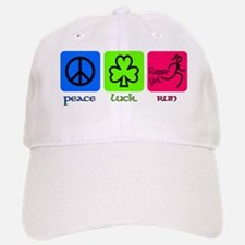 peace luck run Baseball Baseball Cap