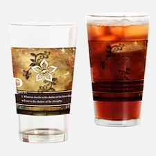 Psalm 91 Drinking Glass