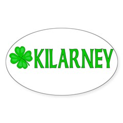 Kilarney, Ireland Oval Decal