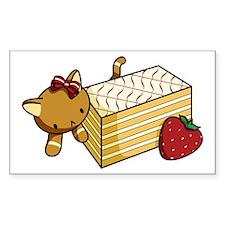 Mille Feuille Kitty Sticker (Rectangle 10 Pk)