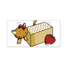 Mille Feuille Kitty Aluminum License Plate