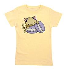 Macaron Kitty Girl's Tee