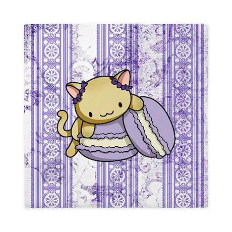 Macaron Kitty Queen Duvet