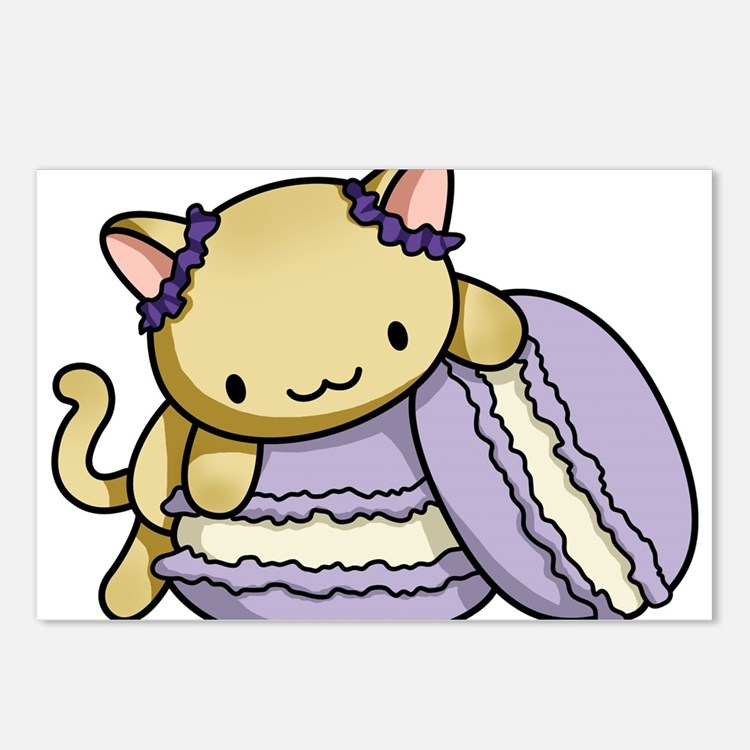 Macaron Kitty Postcards (Package of 8)