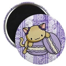 Macaron Kitty Magnets