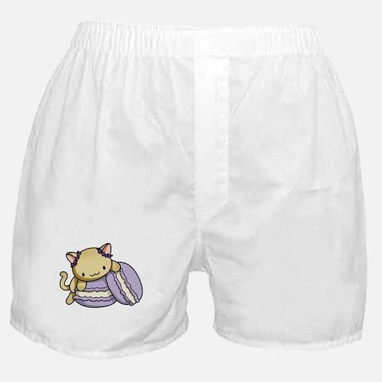 Macaron Kitty Boxer Shorts