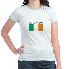 Kilarney, Ireland Flag Jr. Ringer T-Shirt