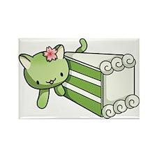 Gateau Matcha Kitty Rectangle Magnet