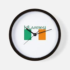 Kilarney, Ireland Flag Wall Clock
