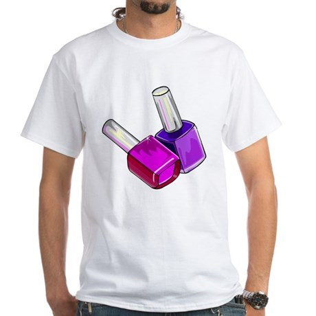 Nail polish white t shirt nail polish shirt for Polish t shirts online