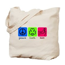 peace luck run Tote Bag