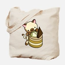 Cannelle Apple Kitty Tote Bag