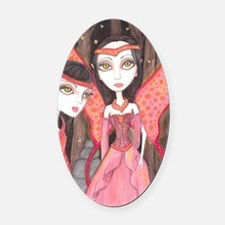 Faeries Oval Car Magnet