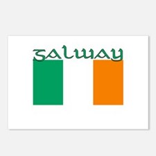 Galway, Ireland Flag Postcards (Package of 8)