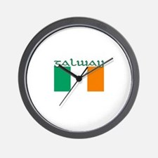 Galway, Ireland Flag Wall Clock