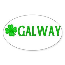 Galway, Ireland Oval Decal