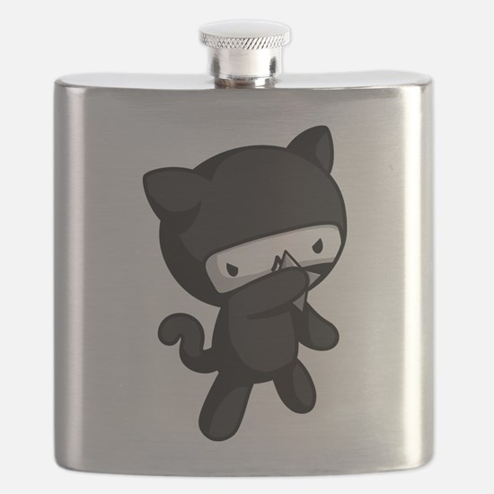 Ninja Kitty Flask