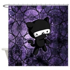 Ninja Kitty Shower Curtain