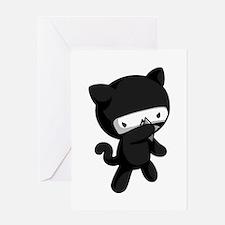 Ninja Kitty Greeting Cards