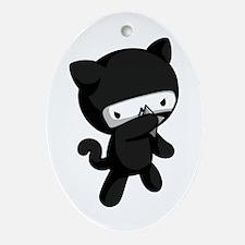 Ninja Kitty Ornament (Oval)