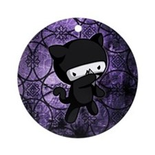Ninja Kitty Ornament (Round)