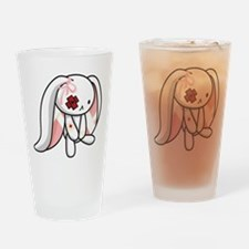 Broken Bunny Drinking Glass