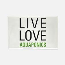 Live Love Aquaponics Rectangle Magnet