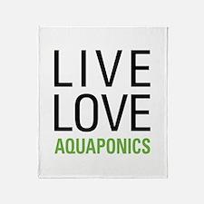 Live Love Aquaponics Throw Blanket