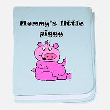 Mommys Little Piggy baby blanket