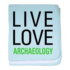 Live Love Archaeology baby blanket