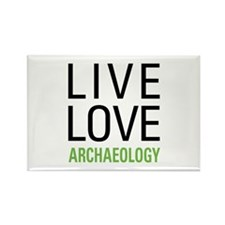 Live Love Archaeology Rectangle Magnet (10 pack)