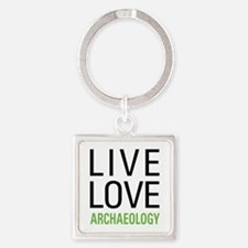 Live Love Archaeology Square Keychain