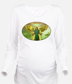 Archangel Raphael Long Sleeve Maternity T-Shirt