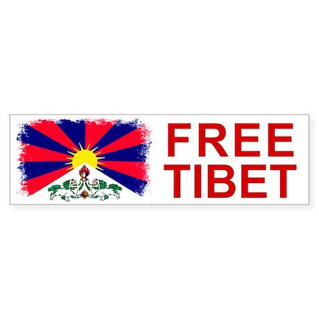 Vintage Free Tibet Bumper Sticker