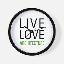 Live Love Architecture Wall Clock