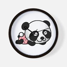 Panda Girl Sleeping Wall Clock