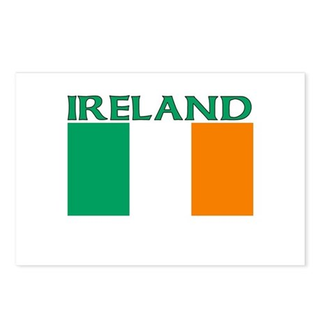 Ireland Flag (Light) Postcards (Package of 8)