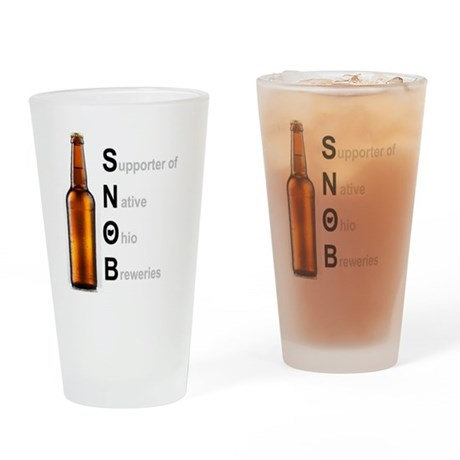 beer snob drinking glass by listing store 4889937