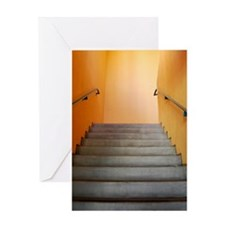 Warm Staircase Greeting Card