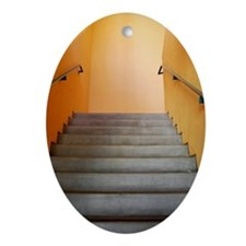 Warm Staircase Oval Ornament