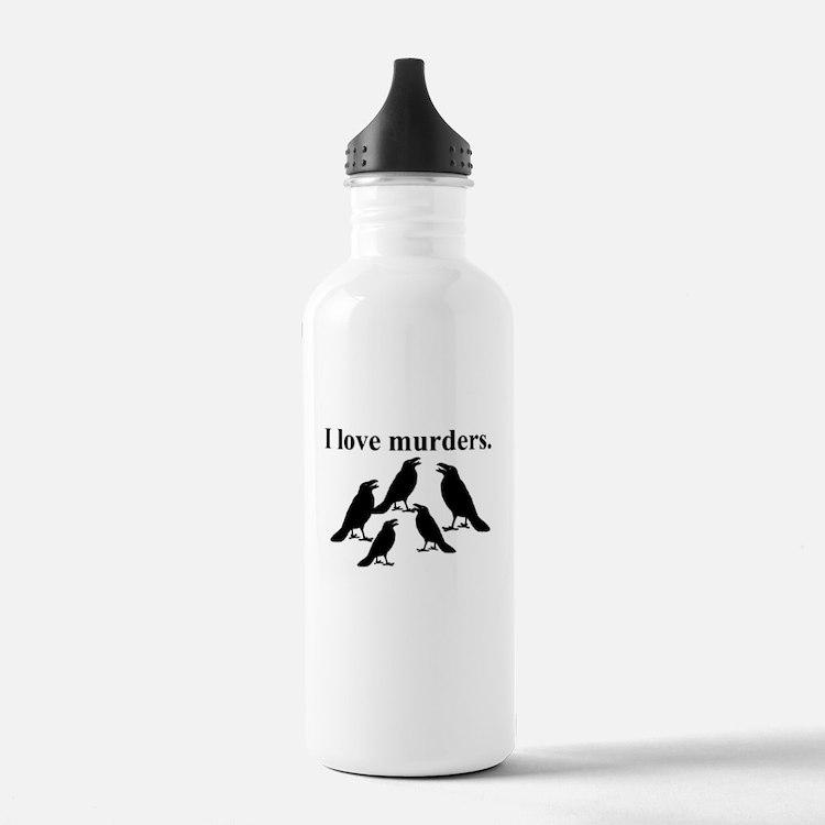 I Love Murders Water Bottle