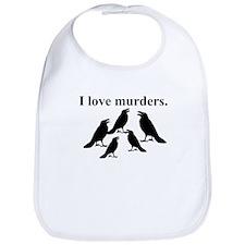 I Love Murders Bib